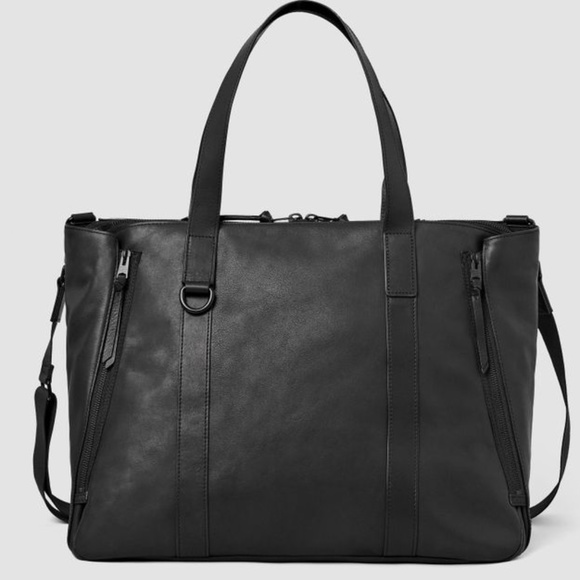 Dray Holdall leather travel duffle zipped tote bag